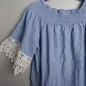 f041074a50 Mlle Gabrielle Dresses - ❄ Mlle Gabrielle Off Shoulder Lace Hem Dress 2X